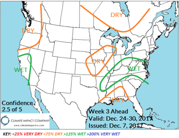 North America Week 2-4 Outlook: Cold Lock Southern Canada ...