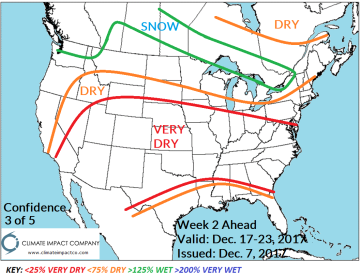 North America Week 2-4 Outlook: Cold Lock Southern Canada/Northern ...