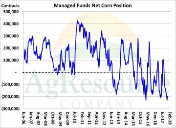 Funds Heavily Short Corn Ahead of S Am Growing Season