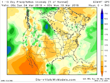 15 day US rainfall
